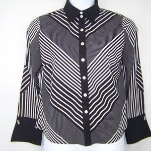 DLG Women's Blouse Size 12 French Cuff